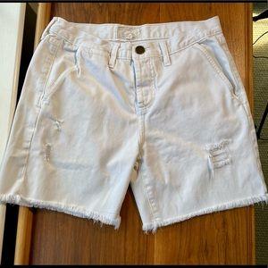 Current/Elliott white denim shorts Size 26
